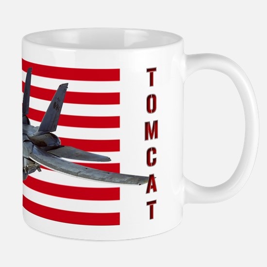 F-14 Tomcat on a USA flag Mugs