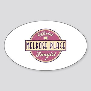 Official Melrose Place Fangirl Oval Sticker