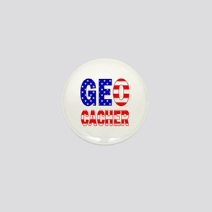 USA Geocacher Mini Button