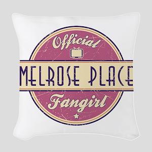 Official Melrose Place Fangirl Woven Throw Pillow