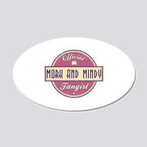 Official Mork and Mindy Fangirl 22x14 Oval Wall Pe