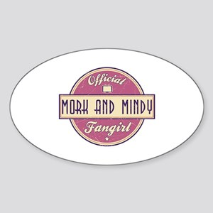 Official Mork and Mindy Fangirl Oval Sticker