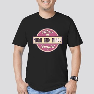 Official Mork and Mindy Fangirl Men's Dark Fitted