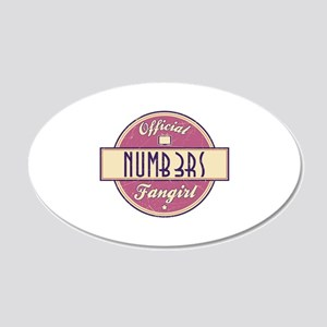 Official Numb3rs Fangirl 22x14 Oval Wall Peel