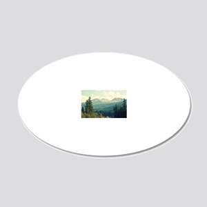 Wilderness is a Necessity 20x12 Oval Wall Decal