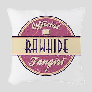 Official Rawhide Fangirl Woven Throw Pillow
