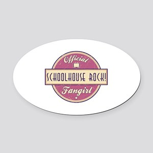 Official Schoolhouse Rock! Fangirl Oval Car Magnet