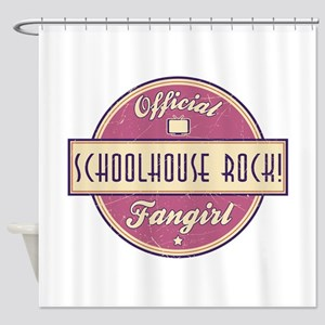 Official Schoolhouse Rock! Fangirl Shower Curtain