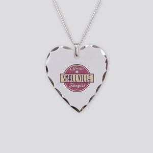 Official Smallville Fangirl Necklace Heart Charm