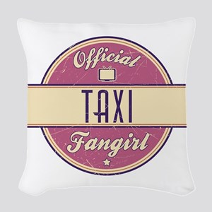 Official Taxi Fangirl Woven Throw Pillow