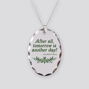 Scarlett O'Hara Quote Tomorrow Necklace Oval Charm