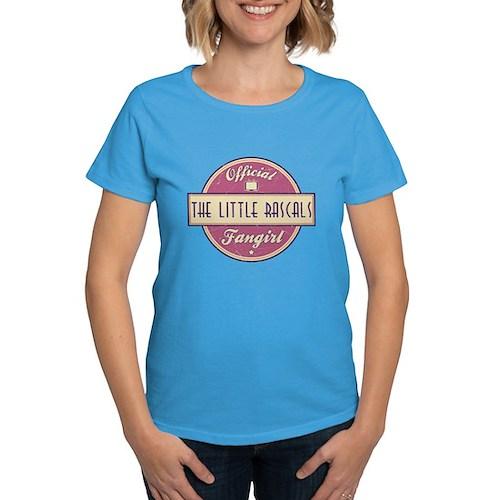Official The Little Rascals Fangirl Women's Dark T