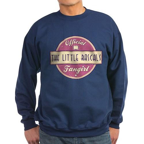 Official The Little Rascals Fangirl Dark Sweatshir