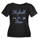 Flyball is Fun Women's Plus Size Scoop Neck Dark T
