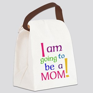I Am Going To Be A Mom Canvas Lunch Bag