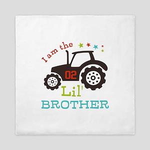 Little Brother Tractor Queen Duvet