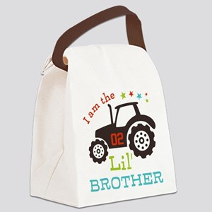 Little Brother Tractor Canvas Lunch Bag
