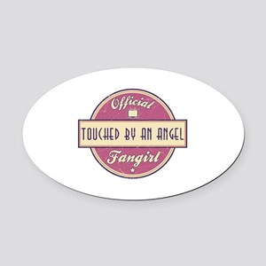 Official Touched by an Angel Fangirl Oval Car Magn