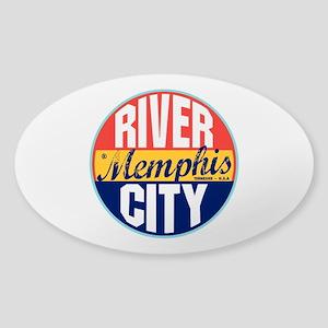 Memphis Vintage Label Oval Sticker