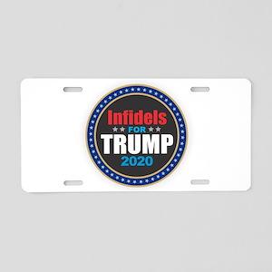 Infidels for Trump 2020 Aluminum License Plate