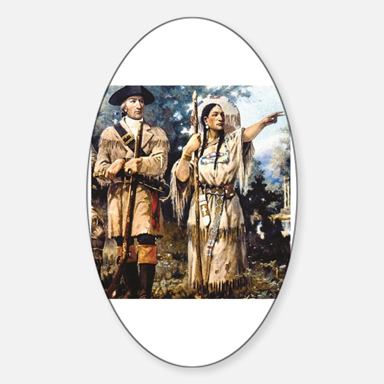 Funny Pocahontas Sticker (Oval)
