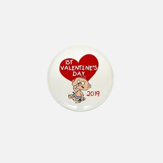 2017 Boy 1st Valentine Day Mini Button