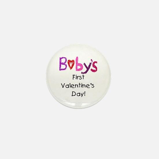 Baby's First Valentine's Day Mini Button