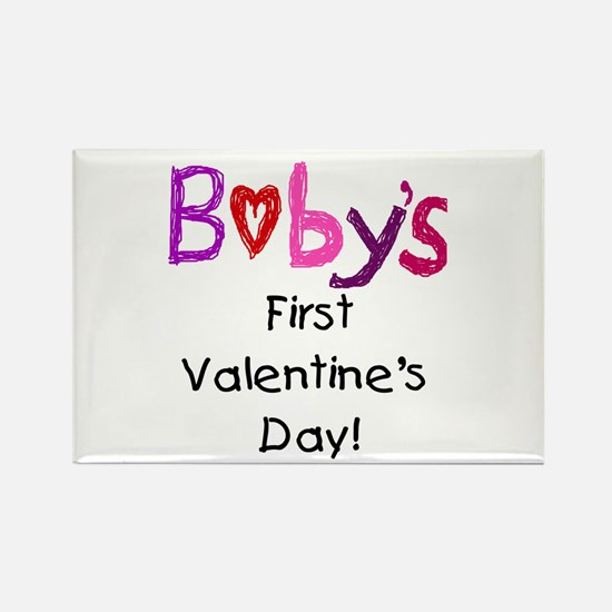 Baby's First Valentine's Day Rectangle Magnet (10