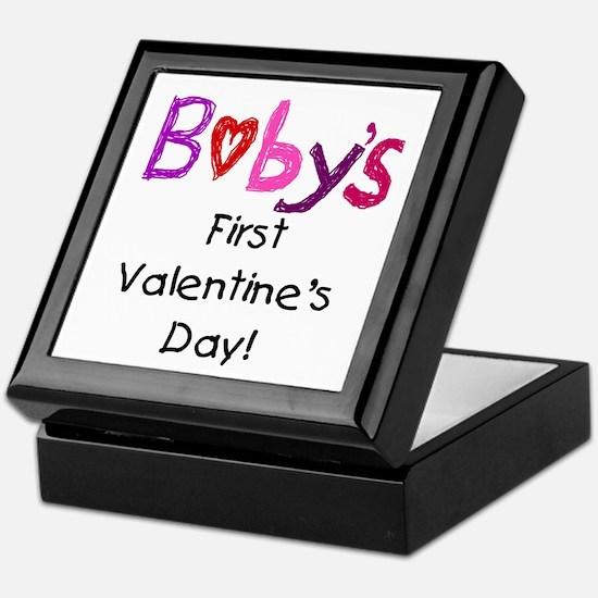 Baby's First Valentine's Day Keepsake Box