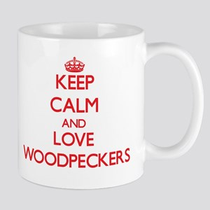 Keep calm and love Woodpeckers Mugs