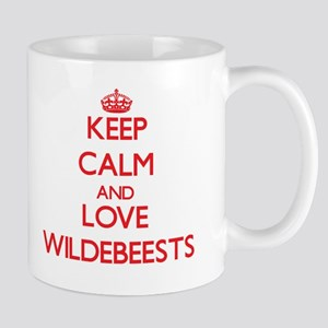 Keep calm and love Wildebeests Mugs