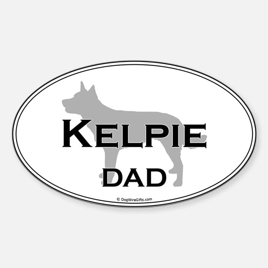 Kelpie Dad Oval Decal