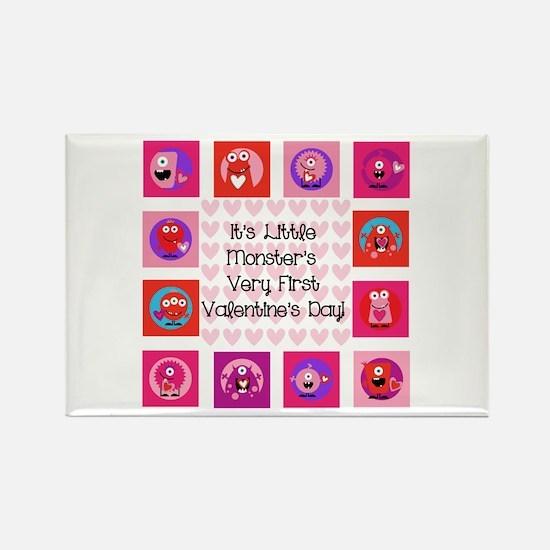 Little Monster 1st Valentine's Day Rectangle Magne