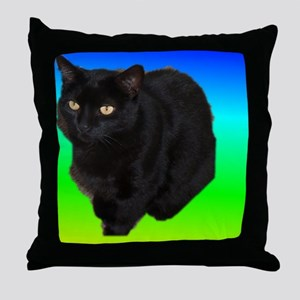 GUINESS THE BLACK CAT Throw Pillow
