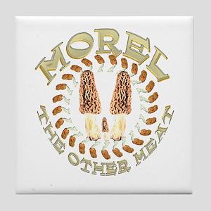 Morel the other meat Tile Coaster