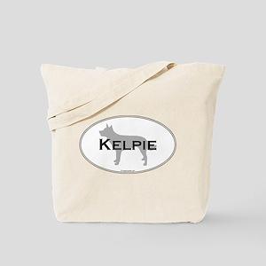 Kelpie Oval Tote Bag