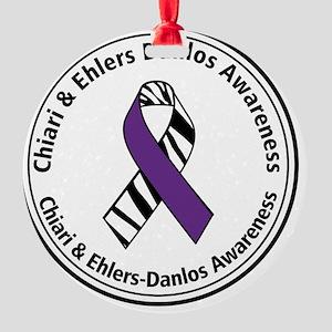 Chiari EDS Awareness Ribbon Round Ornament