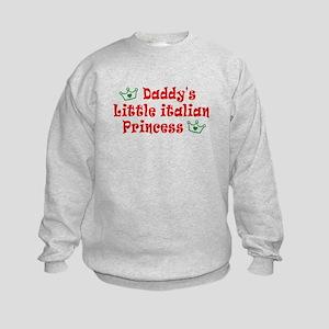 Daddy's Little Italian Prince Kids Sweatshirt