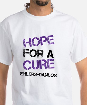Ehlers Danlos Hope For A Cure White T-Shirt