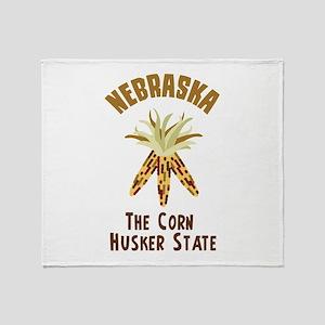 NEBRASKA CORN HUSKER STATE Throw Blanket