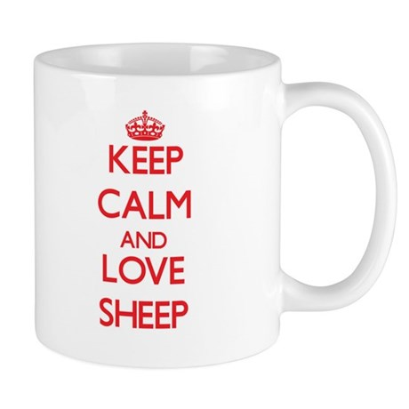 Keep calm and love Sheep Mugs
