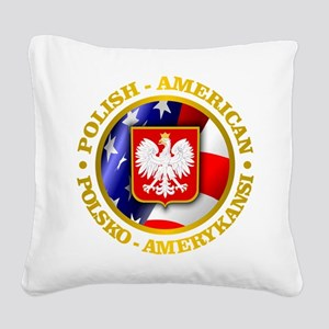 Polish American Square Canvas Pillow