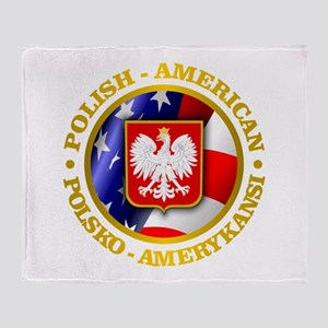 Polish American Throw Blanket
