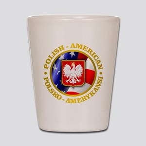 Polish American Shot Glass