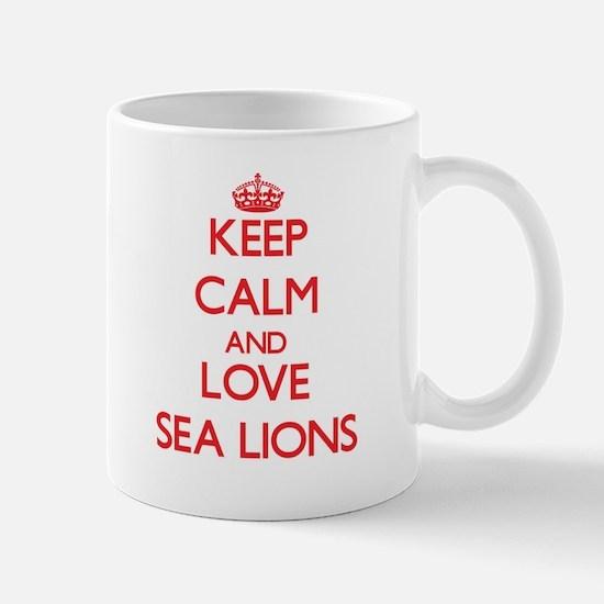Keep calm and love Sea Lions Mugs