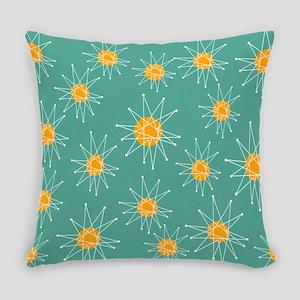 Mid-Century Starburst Everyday Pillow