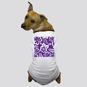 Purple tropical flowers Dog T-Shirt