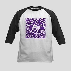 Purple tropical flowers Baseball Jersey