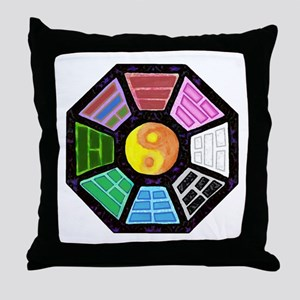 Painted Ba-Gua Throw Pillow