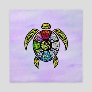 Turtle Ba-Gua Queen Duvet